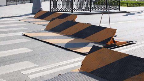 стоп въезд запрещен дорожный знак ограждение