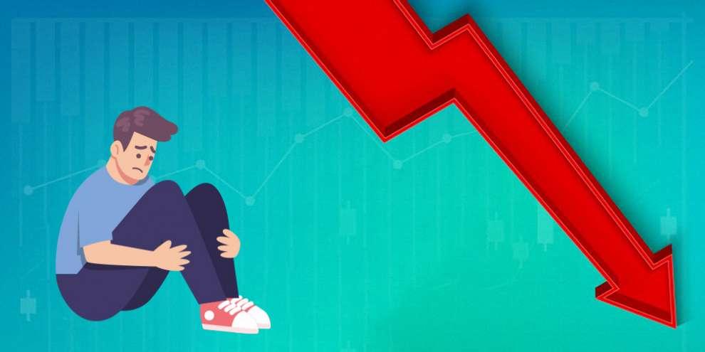График падение